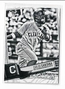 2019 Topps big league baseball artist rendition #307 Carlos Santana 33/50