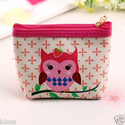 FASHION WOMEN OWL PATTERN WALLET CARD HOLDER COIN PURSE CLUTCH SMALL BAG HANDBAG
