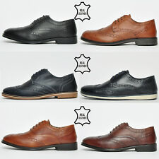 Red Tape REAL LEATHER Brogue Mens Formal Casual Smart Dress Shoes From £9.99