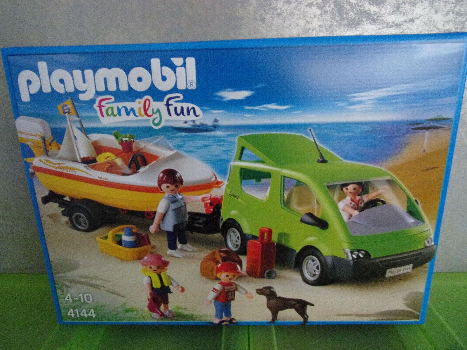 Playmobil Family divertimento 4144 Familyvan con Remolque de Barco  - Nuevo y Emb. Orig.  più ordine