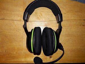 14723fe4ea3 Image is loading Turtle-Beach-Ear-Force-X32-Black-Green-Headband-