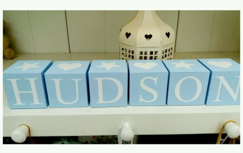 Price per block Personalised name letter baby christening wooden blocks gift