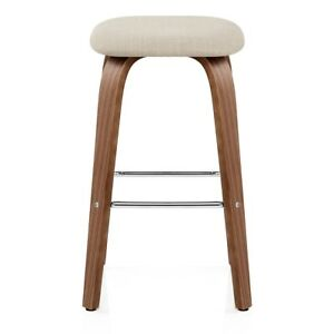 Groovy Details About Stockholm Walnut Fabric Kitchen Breakfast Bar Stool Andrewgaddart Wooden Chair Designs For Living Room Andrewgaddartcom