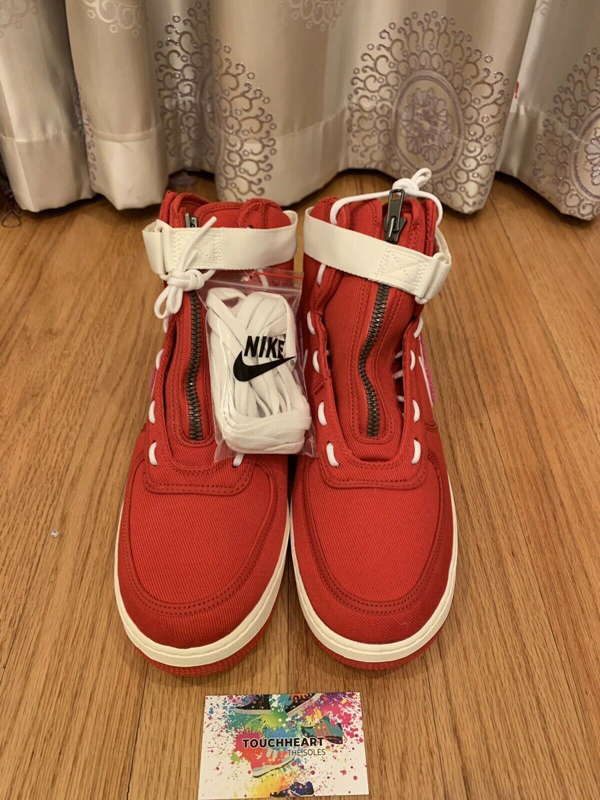 39f6ef9ea022 Nike Air Force 1 High Emotional Emotional Emotional Unavailable Heart Red  Size 12 7f32a0