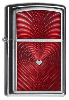 ZIPPO Feuerzeug RED HEART 3D mit Emblem Herz Traumhaft! NEU OVP Sammlerstück!!