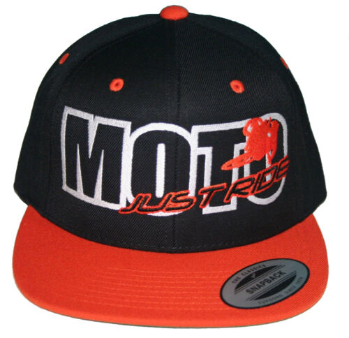 JUST RIDE MOTO HAT MOTOCROSS FLAT BILL SNAPBACK CAP MX MOTORCYCLE
