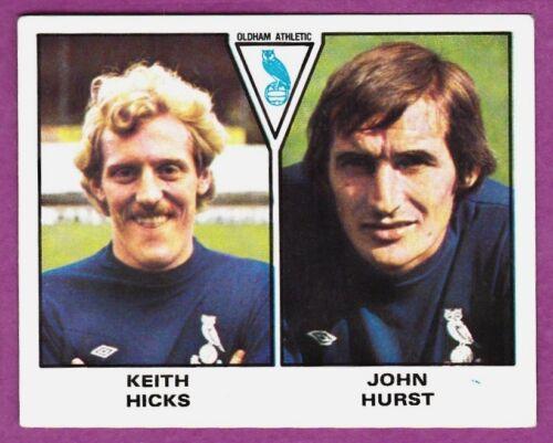 JOHN HURST PANINI FOOTBALL 80 #459-OLDHAM ATHLETIC-KEITH HICKS