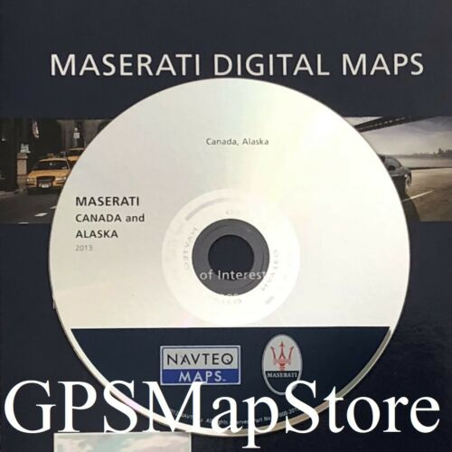 2008-2012 Maserati GranTurismo GPS Navegación CD Alaska y Canadá mapa 2013 Update