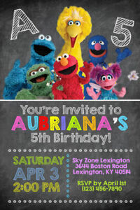 Details About Sesame Street Invitations