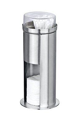 Wenko Firenze 21387100 Dispenser For Cotton Buds & Pads Stainless Steel 7.7 X 8