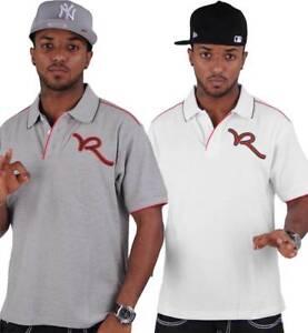 Rocawear-Men-039-s-Designer-Polo-Shirt-Hip-Hop-tee-shirts-l-039-argent-le-temps-ete