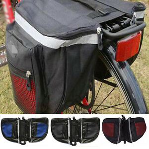 Sport-Impermeable-Bicyclette-Double-Sac-Panier-velo-arriere-DURABLE-Support