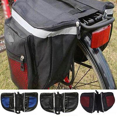 Waterproof Cycling Double Pannier Bag Bike Rear Rack Double Pannier Storage HOT