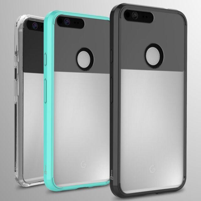 premium selection 5bf76 b13de For Google Pixel XL Case Hard Back Soft Bumper Hybrid Slim Cover