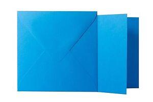 11x11 cm // 10,5x10,5 cm Klappkarten quadratisch Minze 25x Briefumschläge