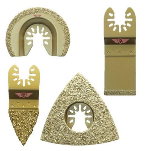 4 x Carbide Grout Blades Set Dewalt Stanley Black and Decker Bosch Multitool