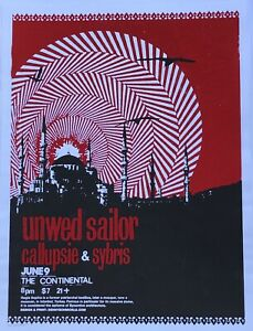 Unwed-Sailor-Show-Poster-Denny-Schmickle-18x24-Red-Colorway-TULSA