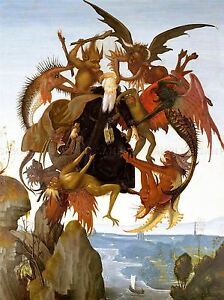 MICHELANGELO-TORMENT-SAINT-ANTHONY-OLD-MASTER-ART-PAINTING-PRINT-1990OMLV