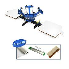 Us Stock 4 Color 2 Station Silk Screen Printing Press For Diy T Shirt Printing