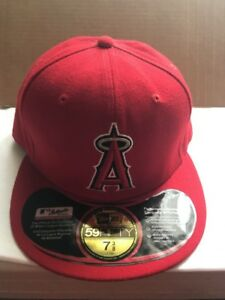d986b3994f208 NEW ERA LOS ANGELES ANGELS OF ANAHEIM MEN RED CUSTOM FITTED HAT CAP ...