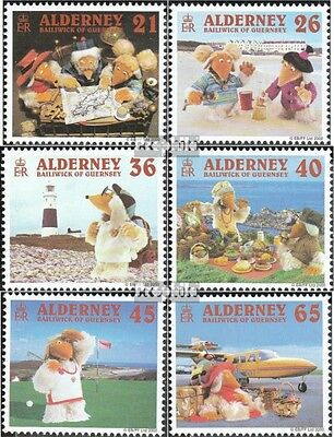 Realistic United Kingdom-alderney 151-156 (complete Issue) Used 2000 Womb