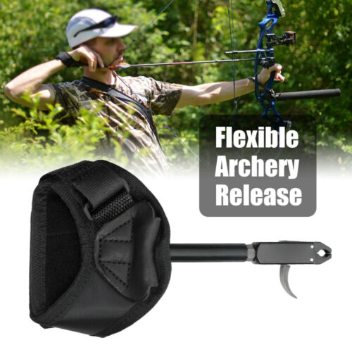 Bow Release Archery Release Aid Trigger w//Adjustable Wrist Strap f// Compound Bow