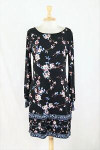 9abb509e22d White House Black Market Floral Print Long Sleeve Jersey Knit Shift ...