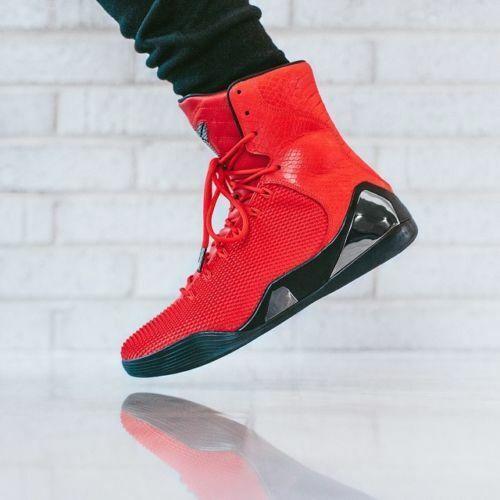 Nike Kobe 9 IX High Elite EXT QS Triple RED KRM 716993-600 what the yeezy 10.5