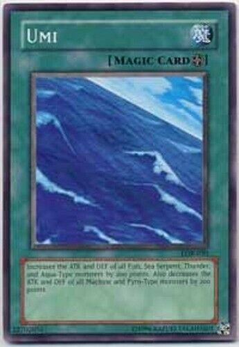 Common LOB-050 YuGiOh Umi Unlimited Edition Lightly Played