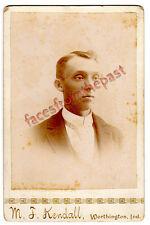 Cabinet Photo of Harry J. Baker (1869-1907) Worthington, Indiana Genealogy