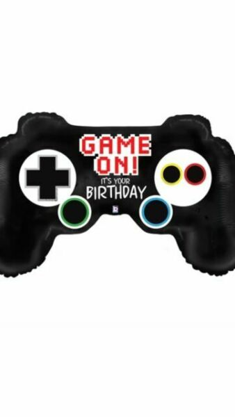 Computer Video Game Controller Foil Balloon Partyware Decoration PS4 Helium\Air