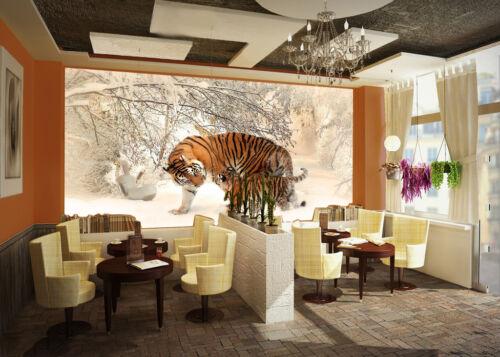 3D White Snow Tigers 7 Wall Paper Murals Wall Print Wall Wallpaper Mural AU Kyra