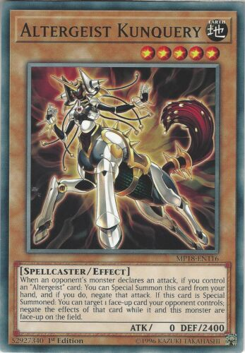Yu-Gi-Oh: Altergeist Kunquery Common Card MP18-EN116 1st Edition