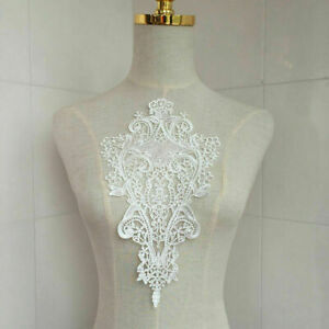 White-Lace-DIY-Embroidered-Sew-Iron-on-Patch-Badge-Applique-Bag-Dress-C5R2