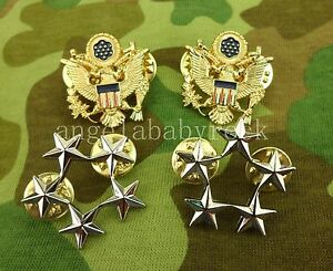 WW2-US-ARMY-FIVE-STAR-RANK-BADGE-GENERAL-OF-THE-ARMY-INSIGNIA-PINS-0416