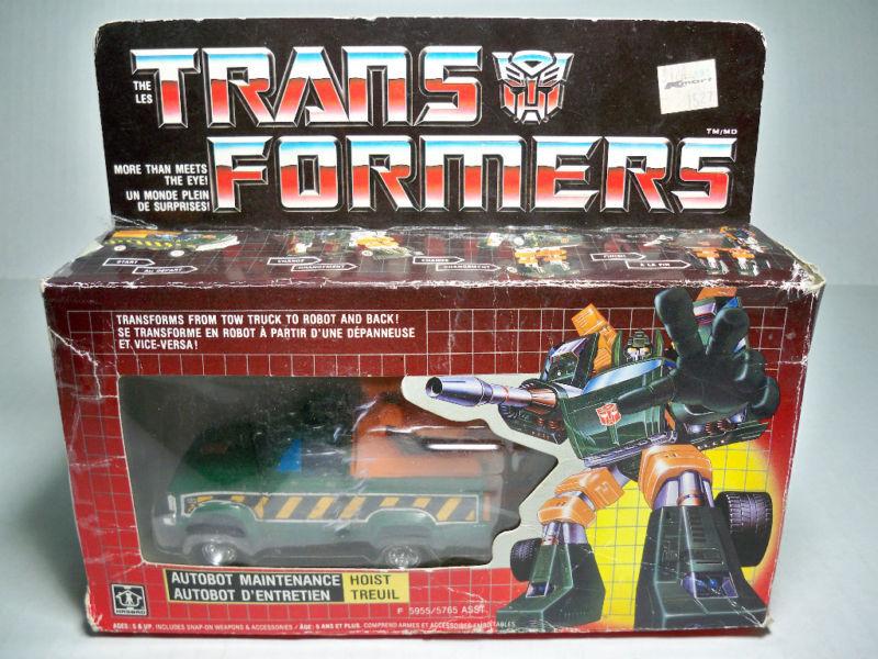 05821 Transformers Hoist  En parfait état, dans sa boîte style canadien de 100% comp  authentique