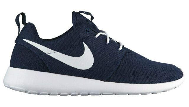 best sneakers bdd8f 9f6e0 Nike Roshe One Mens 511881-423 Obsidian Blue White Mesh Running Shoes Size 9
