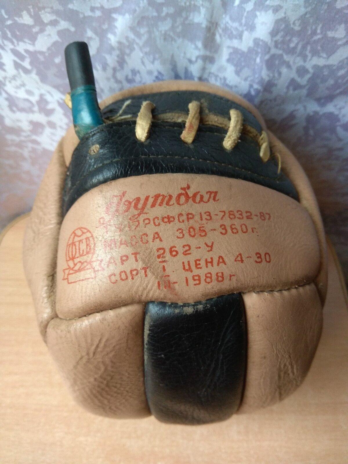 Raer RARE Nice Leather Soviet USSR Football Vintage Ball Sport 1988