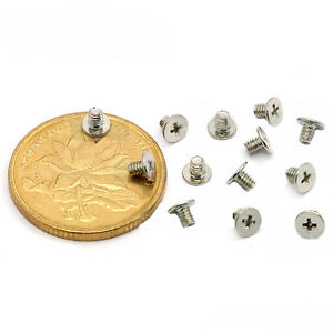 Details about Notebook Service Screws Philips Flat Head Screws  M2x1 5/2/2 5/3 Nickel plating