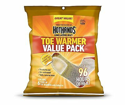 HotHands Adhesive Toe Warmer 6 pair Value Pack