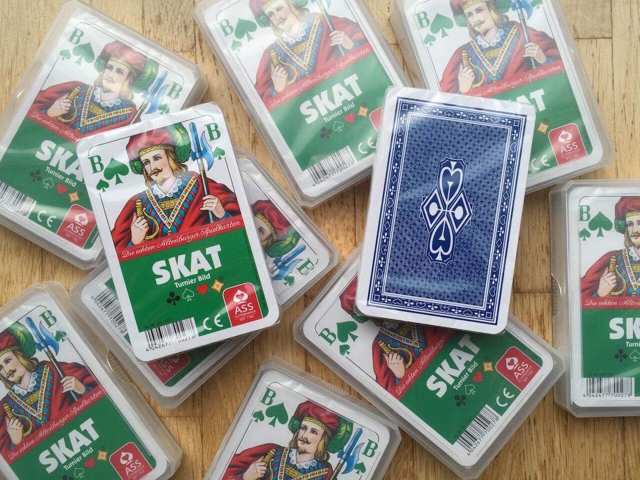 Ab  je Spiel - Skat Turnierbild Skatkarten Karten von ASS