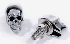 Totenkopf Skull Kennzeichen Schrauben Chrom Schwarz Stück 25mm Chopper Universal