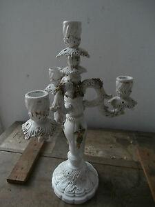 Hermoso-Candelabro-Candelero-Ceramica-Bassano-H-40-cm-Antigua-E-Raro