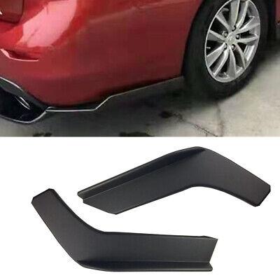 2PCS Car Rear Lip Wrap Angle Splitters Scratch Resistant Protector Carbon Black