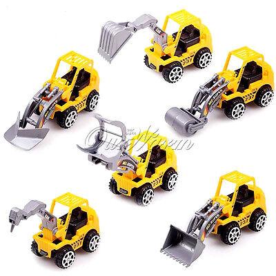 6pcs Truck Play Game Truck Models Mini Toys Construction Gift For Kids Children
