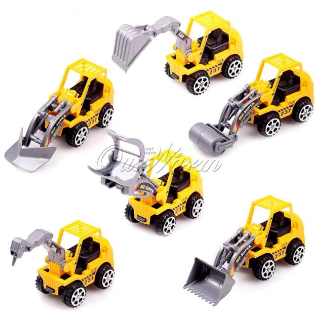 6pcsTrucks For Kids Children Play Truck Models Mini Toys Construction  Gift Toys