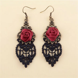 Aestheticism-Gothic-Victorian-Retro-Lace-Vintage-Pendant-Earrings-XDS