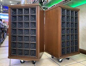 AKAI-SW-180-Rare-Original-Speakers-3-Way-60W-RMS-Vintage-Refurbished-LIKE-NEW