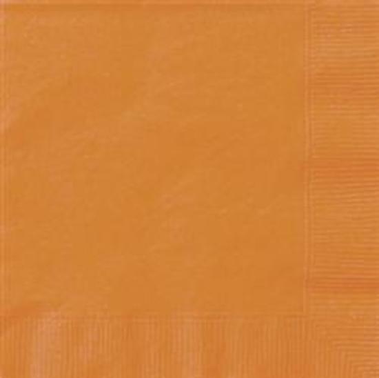Orange Lunch Napkins Pk 20