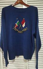 Vintage polo ralph lauren stadium indian p wing  rare cross flag sweater sz  L